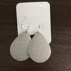 Jewelry - Silver Sparkling Earrings Never Worn from Icing